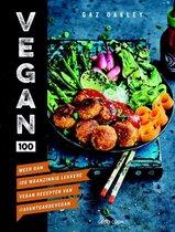 Boek cover Vegan 100 van Gaz Oakley (Hardcover)
