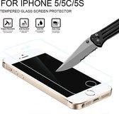 1 + 1 iPhone 5/ 5S/ SE| Ultra Gehard Glass Screenprotector Glasbeschermer |Bescherm hardheid (9H) | Anti Shattered Film coating | Ultra HD LightScreen |Ultradun slank ontwerp