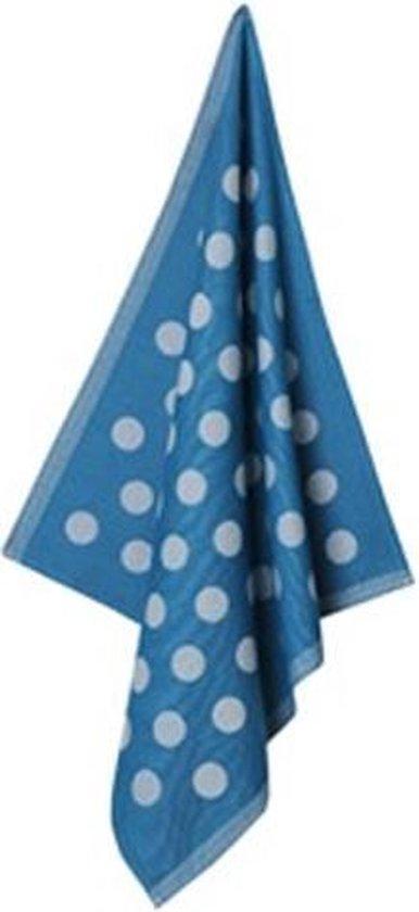 Jorzolino Dots Theedoek (6 Stuks) - 65x65 cm - Blue