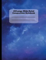 200-Page Wide Ruled Composition Notebook