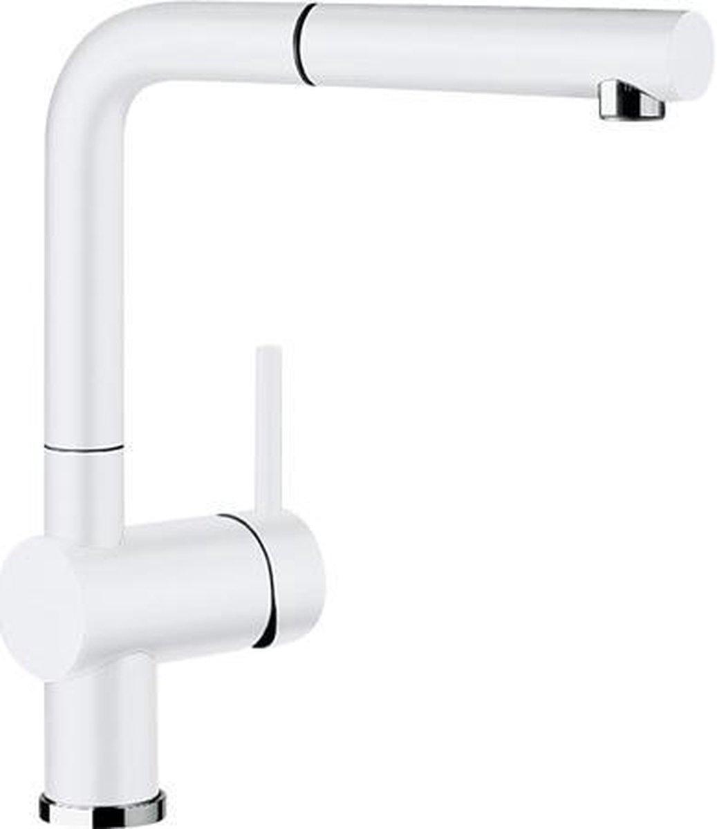 Keukenkraan Blanco Linus S Silgranit-look wit. 516692