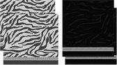 DDDDD Africa - Thee- en Keukendoeken Set - Black - 2 x 2 Stuks