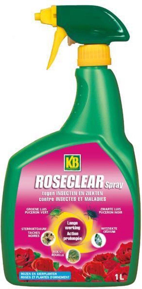Ziekte- en insectenbestrijding op rozen - roseclear spray