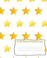 Star Mix Wide Ruled Composition Book