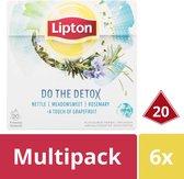 Lipton Thee Infusion Detox - 6 x 20 stuks - Voordeelverpakking