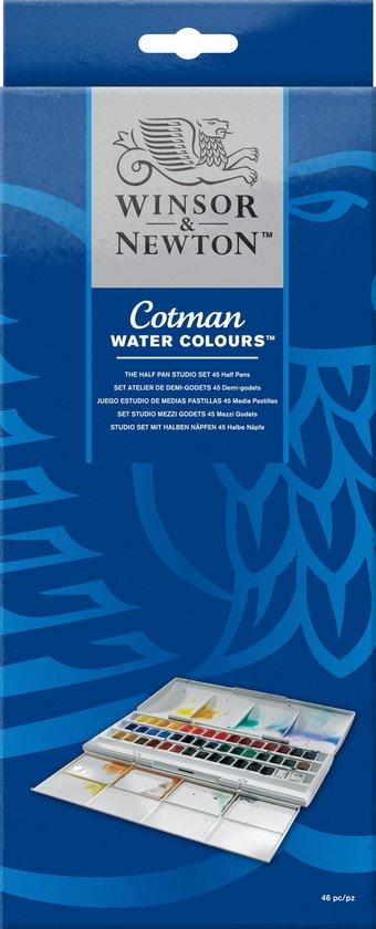 Winsor & Newton Cotman Studio Aquarelset 45 halve napjes