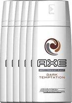 AXE Dark Temptation Anti-Transpirant Deodorant - 6 x 150 ml - Voordeelverpakking