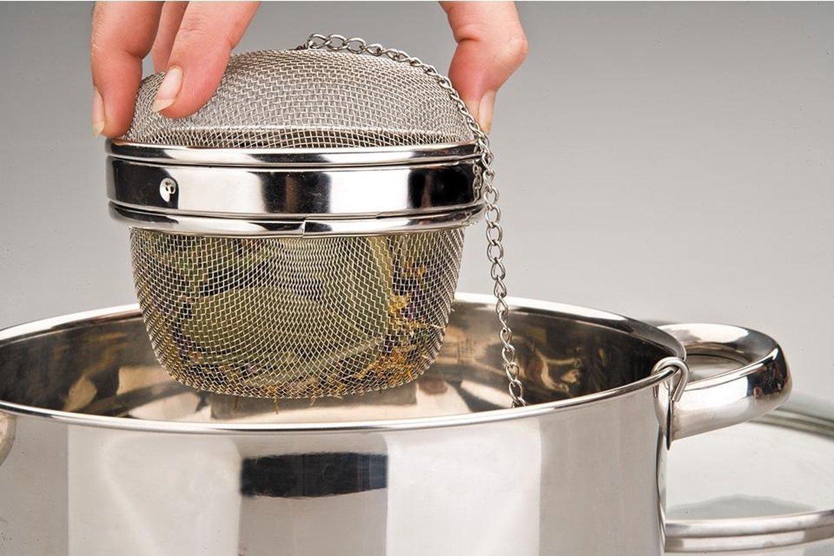 Kitchen Basics Kruidenbuil - RVS Roestvrijstaal - 11 cm - KitchenBasics