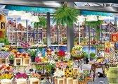 Wanderlust Collection Amsterdam Flower Market Premium Collection Puzzel 1000 Stukjes