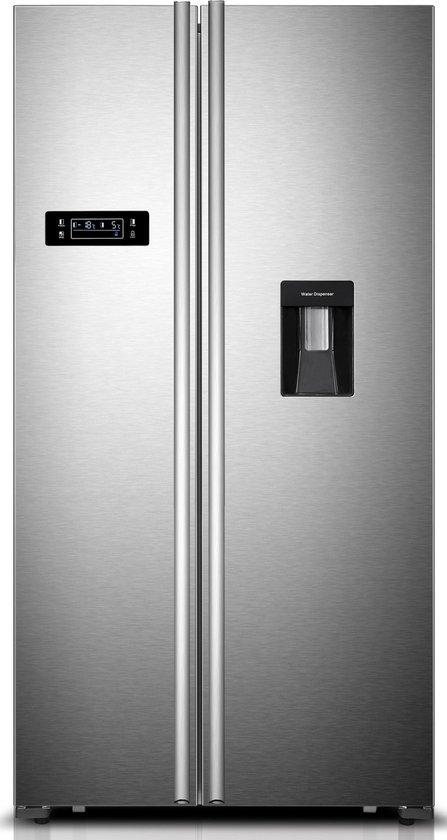 Koelkast: Frilec - BONNSBS555-4 WA++INOX - Amerikaanse koelkast - RVS, van het merk Frilec