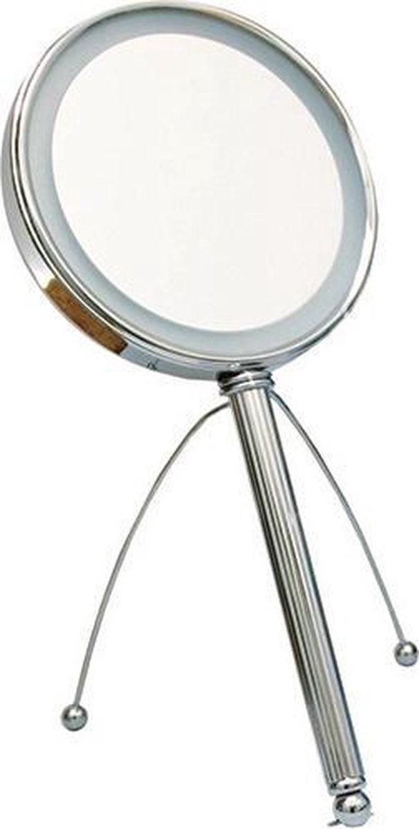 Gérard Brinard verlichte spiegel LED spiegel incl. batterij - 5x vergroting - Ø15cm - Gerard Brinard