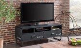 TV meubel Brock - Industrieel retro design - Zwart