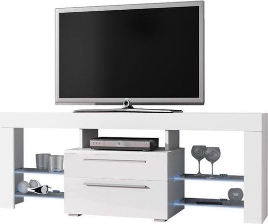 Design Hoogglans Tv Meubel.Bol Com Tv Meubel Tv Dressoir Navia High Design Led Verlichting
