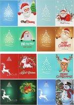 Diamond painting kerstkaarten - 8 stuks - pakket 3