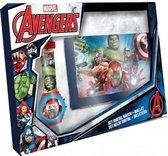 De Avengers Horloge met portemonnee geschenk set.