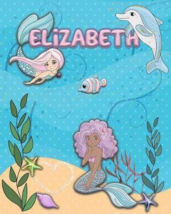 Handwriting Practice 120 Page Mermaid Pals Book Elizabeth