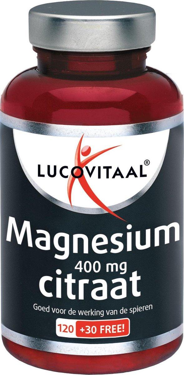 Lucovitaal Magnesium 400 mg Citraat Voedingssupplement - 150 tabletten