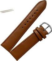 Fako Bijoux® - Horlogebandje - Echt Leer - 20mm - Lichtbruin