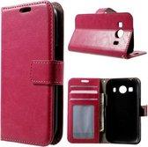 Cyclone wallet hoesje Samsung Galaxy Ace 4 G357FZ roze