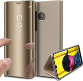 Spiegel Hoesje voor Huawei P Smart (2019) Lederen Wallet Book Case van iCall - Goud