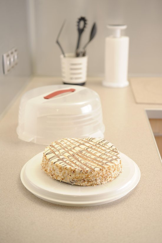 Curver Chef@Home Taartdoos Hoog - Ø35 x 15 cm - Transparant