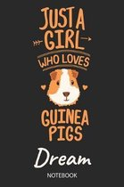Just A Girl Who Loves Guinea Pigs - Dream - Notebook