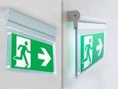 LED Noodverlichtingsarmatuur 2w, 160 Lumen, Kantelbaar, Opbouw, Met pijlaanduiding