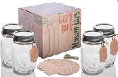 Saveur Pure Mason Jars 4 st. Geschenkverpakking