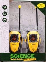 Science Explorer walkie talkie bereik +/- 80 mtr.