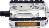 M-wave Platformpedaal Stadsfiets Anti-slip 9/16 Inch Zilver Set