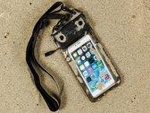 Waterdichte telefoonhoes voor Kazam Thunder2 4.5l met audio / koptelefoon doorgang, zwart , merk i12Cover