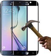Full Cover Display Screenprotector Tempered Glass Samsung Galaxy S6 Edge zwart