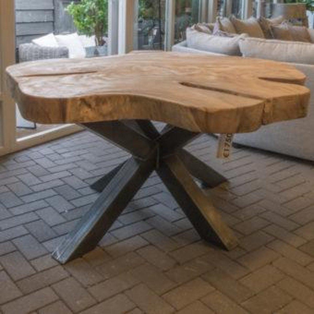 Hedendaags bol.com | Boomstamtafel rond met spinpoot 150 cm OT-89