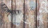 Schoonloopmat met print / Ecomaster Rustiek Vlinder 035 / 45 cm x 75 cm / Rustiek Vlinder 035