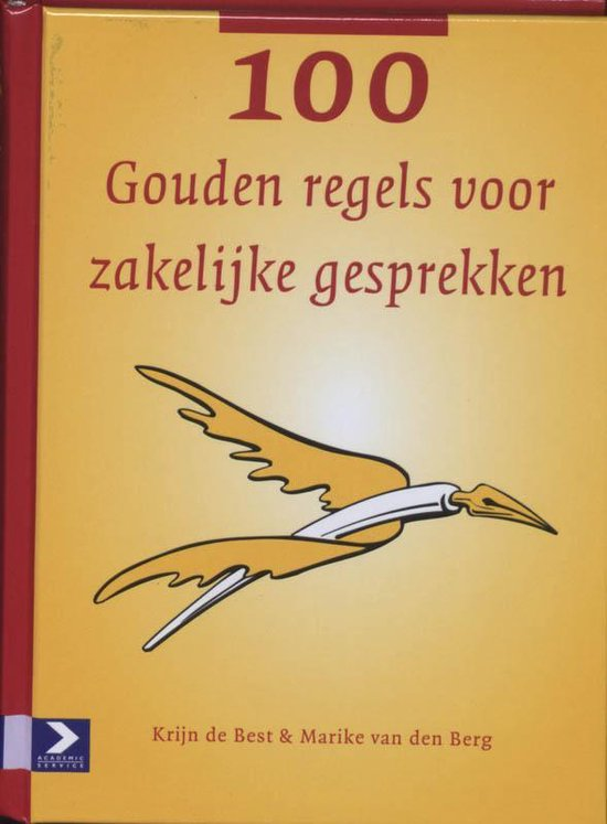 Cover van het boek '100 Gouden regels Voor zakelijke gesprekken' van K. den Best en Mariska van den Berg