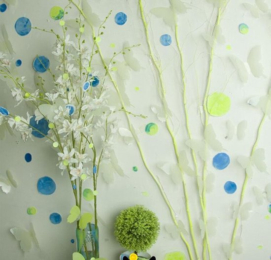 Lichtgevende Glow In The Dark 3D Vlinders Decoratie Muur Stickers - 12 Stuks - AA Commerce