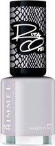Rimmel - 60 Seconds Super Shine By Rita Ora - Nail polish 8 ml 804 Naked Class - - Grijs