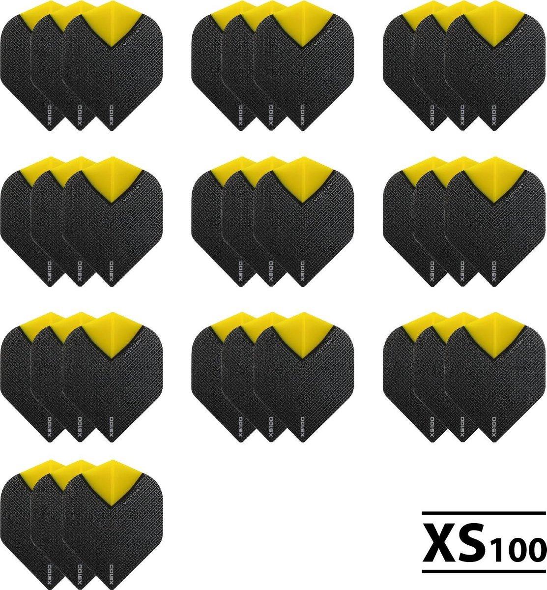 10 Sets (30 stuks) XS100 Skylight flights Multipack - Geel