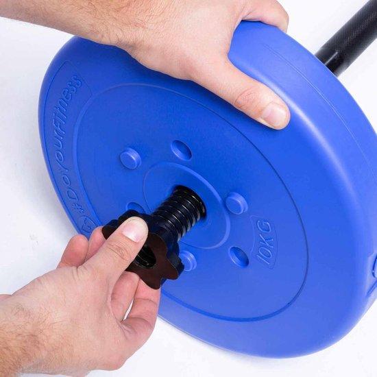 #DoYourFitness® - gewichten / halterschijven van 1,25 kg tot 15 kg - per 2 geleverd - vloervriendelijke plastic halters met 31 mm boring - 10kg donkerblauw
