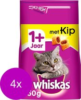Whiskas Brokjes Adult Kip - Kattenvoer - 4 x 950 g