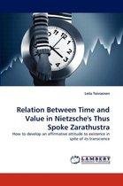 Relation Between Time and Value in Nietzsche's Thus Spoke Zarathustra