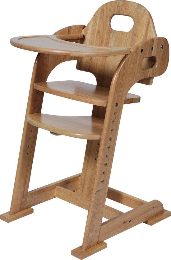Tiamo Meegroei Kinderstoel - Blank (Rubbewood)