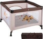 TecTake babybox reisbox opklapbaar Tommy reisbed - bruin - 402207
