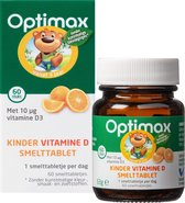 Optimax Kinder Vitamine D Voedingssupplement - 60 smelttabletten - sinaasapplesmaak