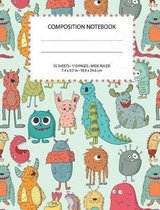 Colorful Cute Monsters Composition Notebook