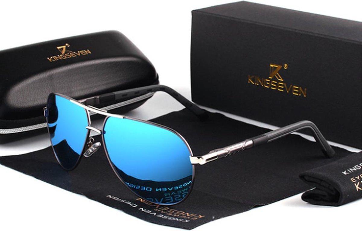 KingSeven Bluestar Z68 Heren Zonnebril - Grijs/Blauw