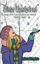 Travel Size Large Print Coloring Book for Adults