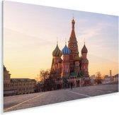 Vooraanzicht van de Kathedraal van de Voorbede van de Moeder Gods in Rusland Plexiglas 30x20 cm - klein - Foto print op Glas (Plexiglas wanddecoratie)