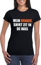 Mijn oranje shirt zit in de was t-shirt zwart dames - Oranje Koningsdag/ Holland supporter kleding L
