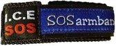 SOS armband - Naambandje - 06 Polsbandje voor kinderen van ca. 2-9 jaar - Blauw